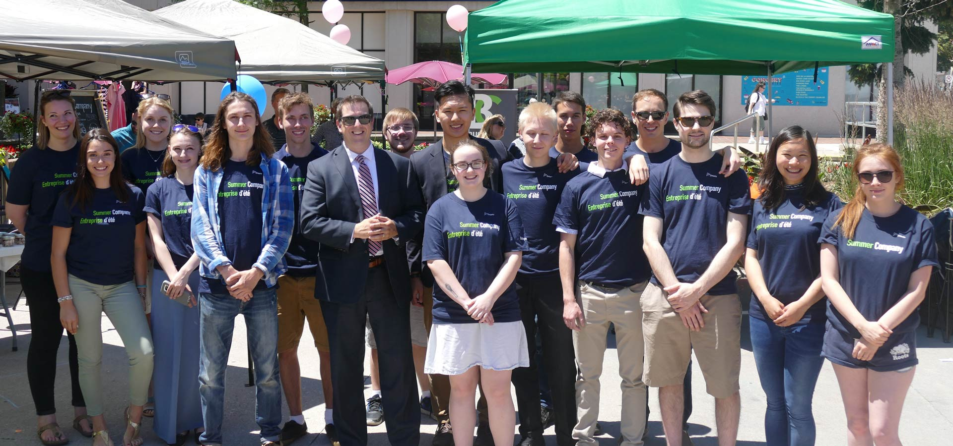 2017 summer company students with the Guelph Mayor Cam Guthrie