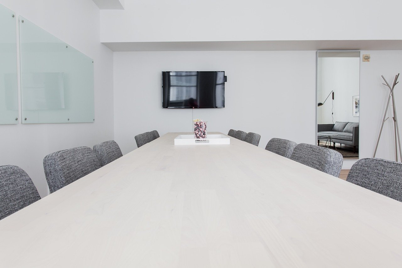 long conference table with chairs