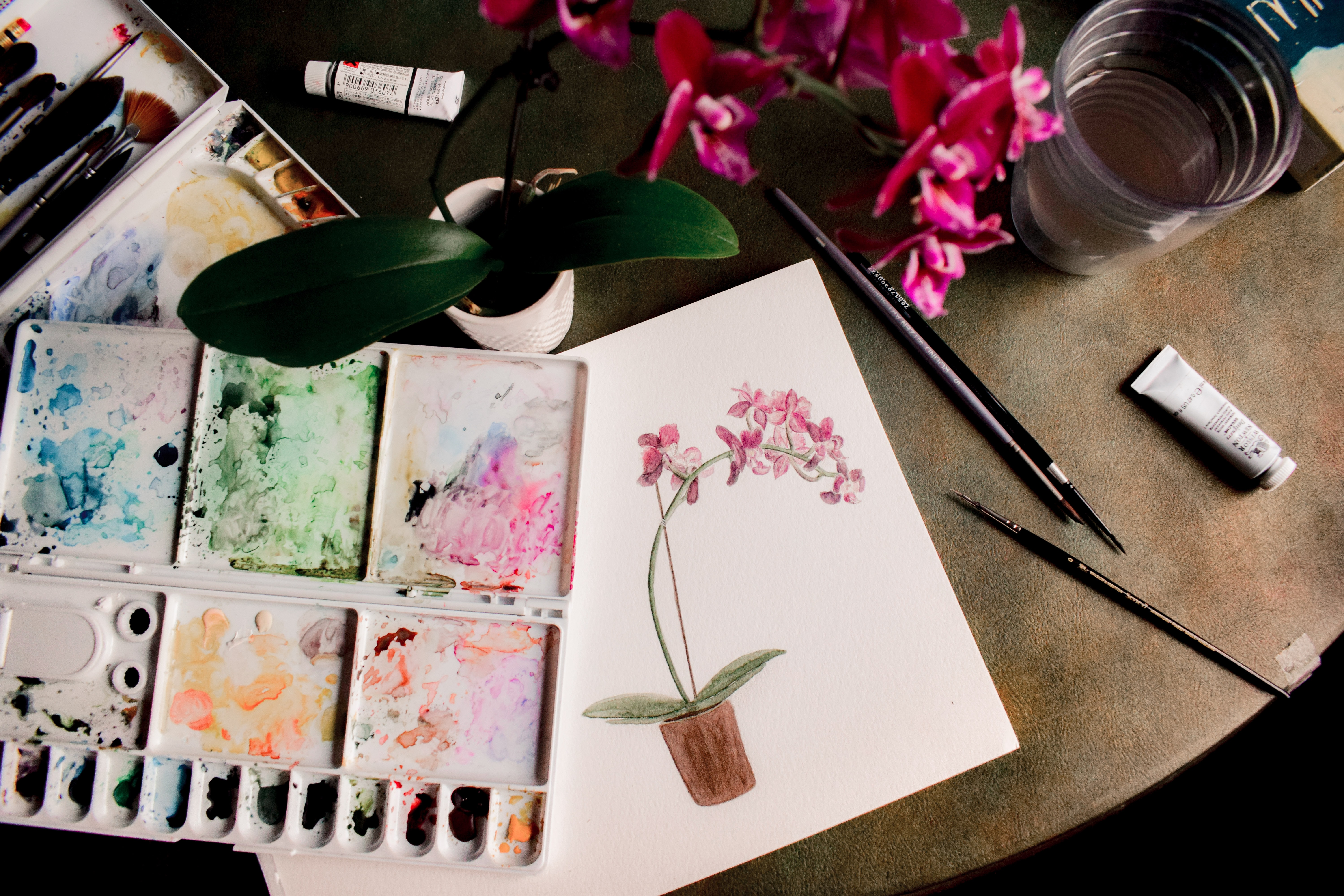 painted images of flowers